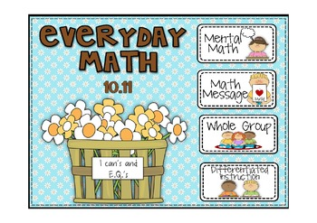 Everyday Math 2nd Grade Promethean Lesson 10.11 Grouping w