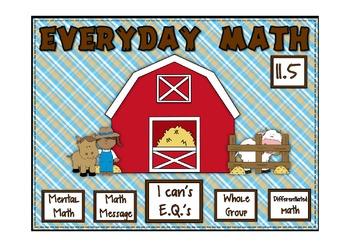 Everyday Math 2nd Grade Promethean Lesson 11.5 Division Nu
