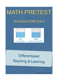 Everyday Math 3rd Grade Unit 5 Pretest