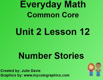 Everyday Math 4 Common Core Edition Kindergarten 2.12 Numb