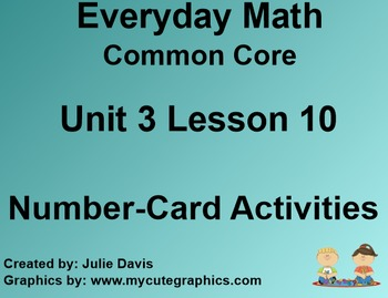 Everyday Math 4 Common Core Edition Kindergarten 3.10 Numb