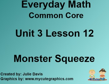 Everyday Math 4 Common Core Edition Kindergarten 3.12 Mons