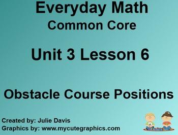 Everyday Math 4 Common Core Edition Kindergarten 3.6 Obsta