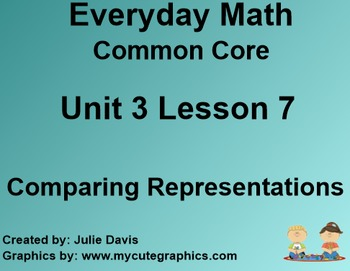 Everyday Math 4 Common Core Edition Kindergarten 3.7 Compa