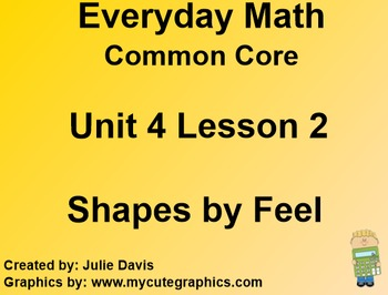 Everyday Math 4 Common Core Edition Kindergarten 4.2 Shape