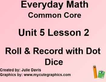 Everyday Math 4 Common Core Edition Kindergarten 5.2 Roll