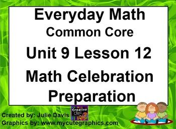 Everyday Math 4 EDM4 Common Core Edition 9.12 Math Celebra