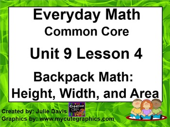 Everyday Math 4 EDM4 Common Core Edition 9.4 Backpack Math
