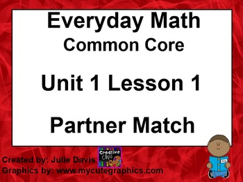 Everyday Math 4 EDM4 Common Core Edition Kindergarten 1.1