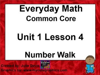 Everyday Math 4 EDM4 Common Core Edition Kindergarten 1.4