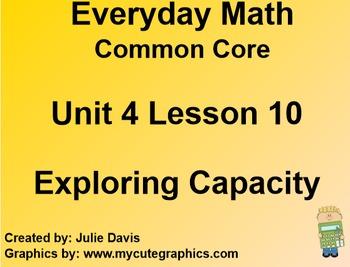 Everyday Math 4 EDM4 Common Core Edition Kindergarten 4.10