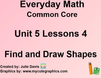 Everyday Math 4 EDM4 Common Core Edition Kindergarten 5.4