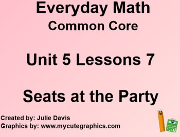 Everyday Math 4 EDM4 Common Core Edition Kindergarten 5.7