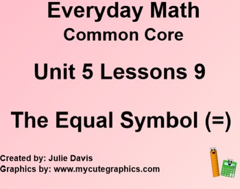 Everyday Math 4 EDM4 Common Core Edition Kindergarten 5.9