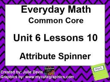 Everyday Math 4 EDM4 Common Core Edition Kindergarten 6.10