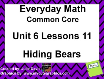 Everyday Math 4 EDM4 Common Core Edition Kindergarten 6.11