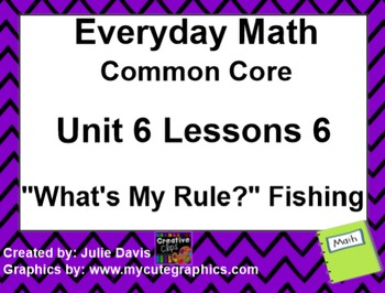 Everyday Math 4 EDM4 Common Core Edition Kindergarten 6.6