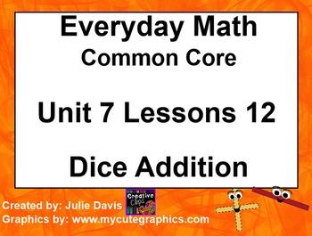 Everyday Math 4 EDM4 Common Core Edition Kindergarten 7.12