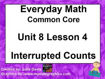 Everyday Math 4 EDM4 Common Core Edition Kindergarten 8.4