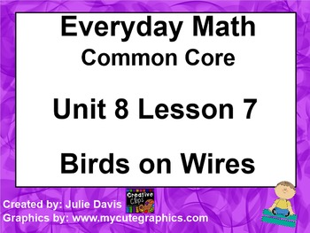 Everyday Math 4 EDM4 Common Core Edition Kindergarten 8.7