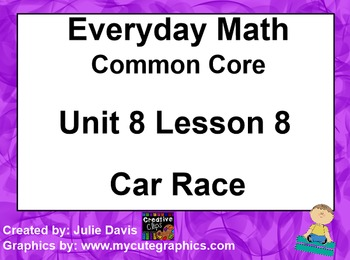 Everyday Math 4 EDM4 Common Core Edition Kindergarten 8.8