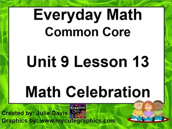 Everyday Math 4 EDM4 Common Core Edition Kindergarten 9.13
