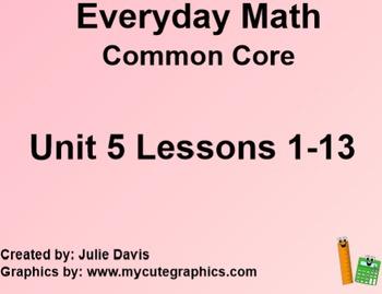 Everyday Math 4 EDM4 Common Core Edition Kindergarten Unit