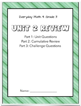 Everyday Math 4: Grade 3 Unit 2 Review Flipchart and Corre