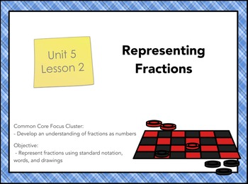 Everyday Math 4 Grade 3 Unit 5 Lesson 2: Representing Fractions