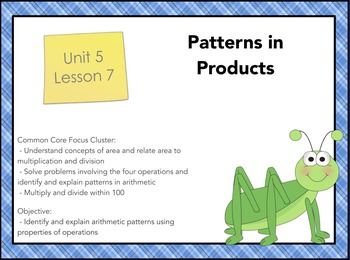Everyday Math 4 Grade 3, Unit 5, Lesson 7: Patterns in Products