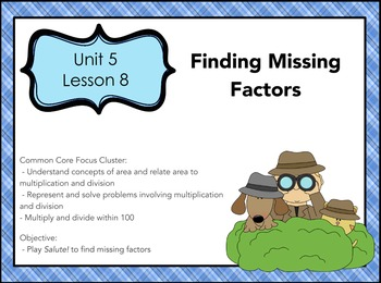 Everyday Math 4 Grade 3, Unit 5, Lesson 8: Finding Missing