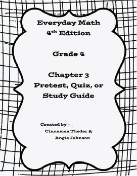 Everyday Math 4, Grade 4, Chapter 3 BUNDLE