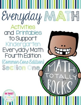 Everyday Math 4 Section One {Kindergarten} EDM4 Common Cor