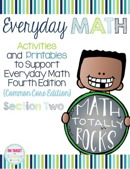 Everyday Math 4 Section Two {Kindergarten} EDM4 Common Cor