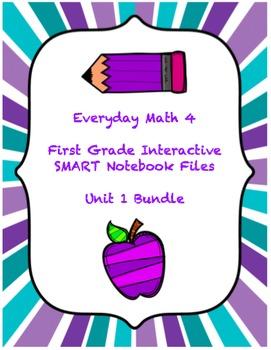 Everyday Math 4 Unit 1 SMART Notebook Bundle (First Grade)