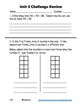 Everyday Math 4 Unit 2 Challenge