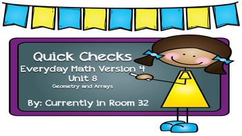 Everyday Math 4 Unit 8 Quick Checks