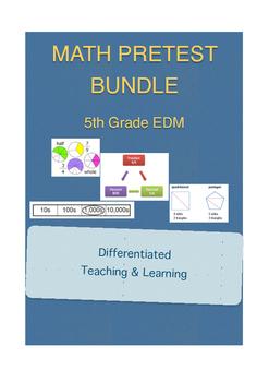 Everyday Math 5th Grade Unit Pretest Bundle