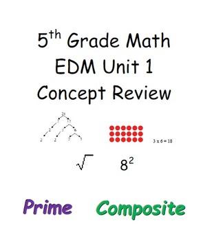 EDM Everyday Math 5th grade Unit 1 Review