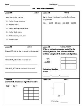 Everyday Math FOURTH EDITION Math Box Unit 1