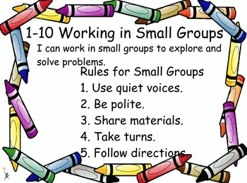 Everyday Math: Grade 1: 1-10 Working in Small Groups