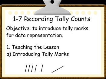 Everyday Math: Grade 1: 1-7 Recording Tally Counts