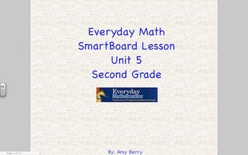 Everyday Math 2nd Grade SmartBoard Lessons Unit 5