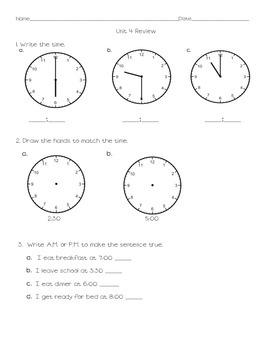 Everyday Math Grade 2 Unit 4 Review