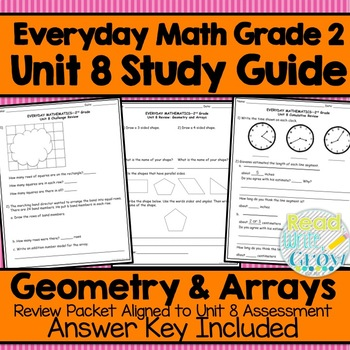 Everyday Math Grade 2 Unit 8 Study Guide/Review {Geometry