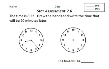 Everyday Math Grade 3 Star Assessments RSAs for Units 1-11