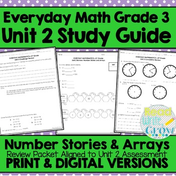 Everyday Math Grade 3 Unit 2 Review {Number Stories & Arra