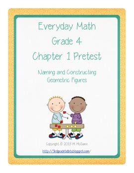 Everyday Math - Grade 4 - Pretest Chapter 1