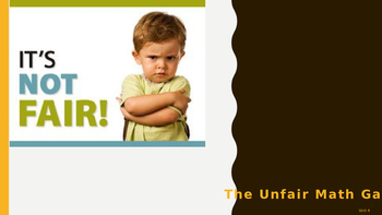 Everyday Math Grade 4 Unit 4 Review Unfair Game (CCSS Edition)