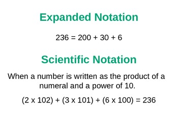 Everyday Math Grade 5 Lesson 7.3 - Scientific Notation